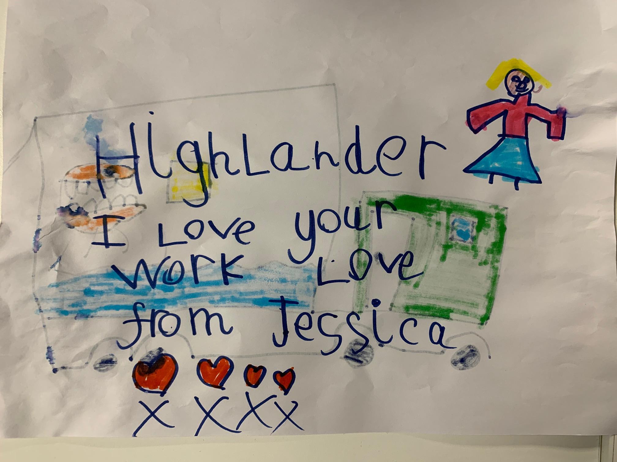 """""""Highlander I love your work!"""""""